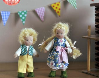 Cute small easter textile doll