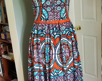 Ankara Maxi dress in 100% cotton