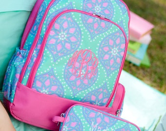SALE!! Marlee Collection, FREE Personalization, Monogrammed Backpack, Personalized Backpack, Monogrammed Lunchbox