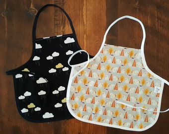 Kids Apron - toddler size - ready to ship - various prints
