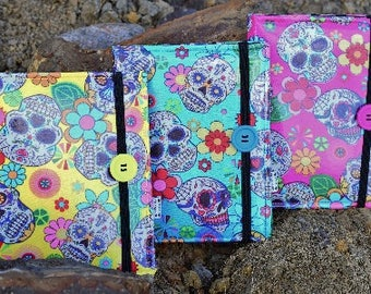 Mexican Sugar Skulls Print E-Reader Case for Kindle or Kobo - Various Sizes