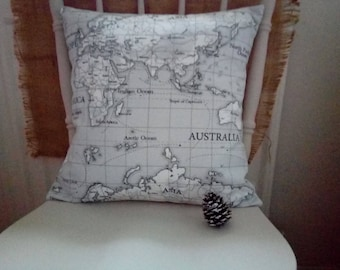 Devon & Grey Lovely Handmade Map Cushion