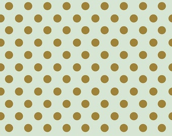 Mint and Gold Dot On Trend Riley Blake Fabric by the Yard