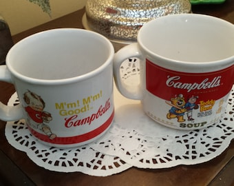 Campbell's Soup Mugs Set of 2