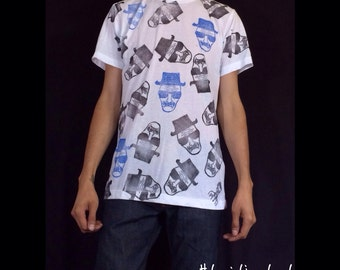 Hand printed Heisenberg Breaking Bad t shirt