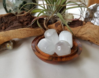 Selenite tumbled stones - Spirit Guides - Angelic Realms - Love and Light - Crown Chakra