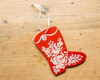 Christmas Ornaments - Hand painted Matyo-style