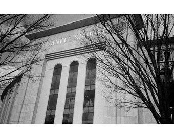 Yankee Stadium Black and White Print on 8.5 x 11 Luster Paper