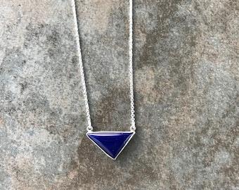 Triangle Lapis Lazuli Cabochon Pendant