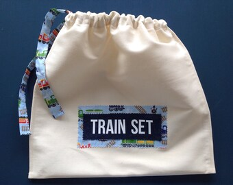 Personalised Drawstring Toy Storage Bag