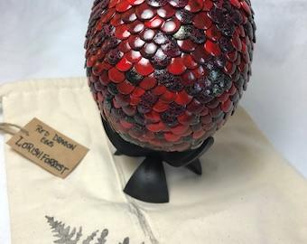 Crimson Fire Dragon Egg w/ stand