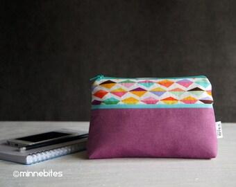 Bracelet - fermeture à glissière portefeuille - iPhone organisateur de sac - cadeau pour les filles - Mini Pochette - petit sac à main coloré - MinnePouch - prêt à l'expédition
