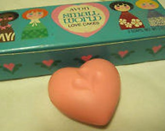Avon, Small World, Love Cakes, Soap, Hearts, Pavi Sparkling Cologne, Disney, Gift for Young Girls, Stocking Stuffer
