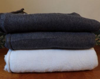 Lot of 3 Pieces of Grays Fleece New & Unwashed F50