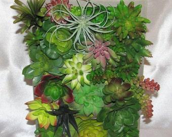 Beautiful Vertical Succulent Arrangement, Vertical Garden, Faux Succulent Arrangement, Artificial Succulent, Housewarming Gift