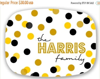 Memorial Day Sale Personalized Melamine Platter -  christmas