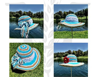 Maui Beach Sunhat Ensemble Crochet hat Pattern