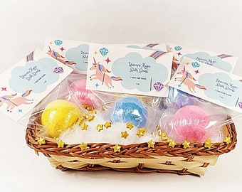 Mini Unicorn Magic Bath Bomb, 1 unicorn bath bomb, bath bombs, party favors, spa favors, bath bomb, bath fizzy,  unicorn favors, spa gift