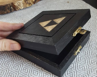 Decorative Triforce, Legend of Zelda inspired wood burned Box
