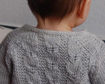 Silverfox Cardigan PDF knitting pattern / fiche tricot gilet a torsades