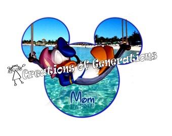 Disney Cruise Door Decoration Magnet ~ Donald Duck on Castaway Cay