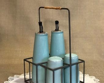 Salt and Pepper Shakers Oil and Vinegar Cruet Retro