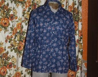 Vintage 70's Arrow Scrambler Shirt L