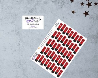 UK Red Postbox Icon Stickers - Planner Stickers - Happy Mail Stickers - Snail Mail - Erin Condren,