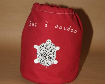 Sakadoudou child duffel bag - white turtle