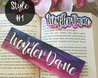 WaterColor Brush - Personalized Name Bookmark