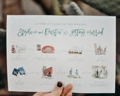 Illustrated Watercolor Wedding Save The Date