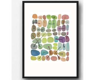 CONNECTIONS, Abstract painting print, Abstract art print, Watercolor painting, watercolor print, office decor