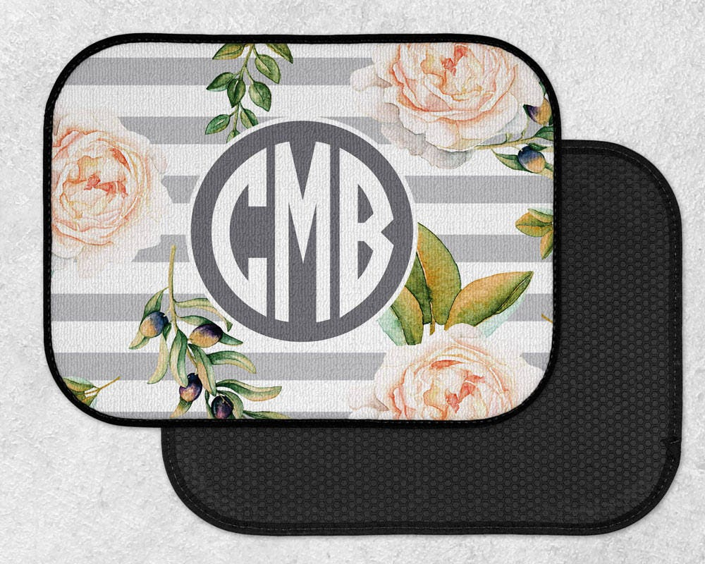 classy mats cute car for black her carmats monogrammed decor pin custom accessories floral monogram floor