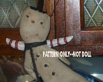 Snowman epattern-NOT DoLL 197e Primitive the flies ornament  Crows Roost Prims epattern immediate download