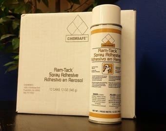 Mousse et tissu spray adhésif cas (12 boîtes)