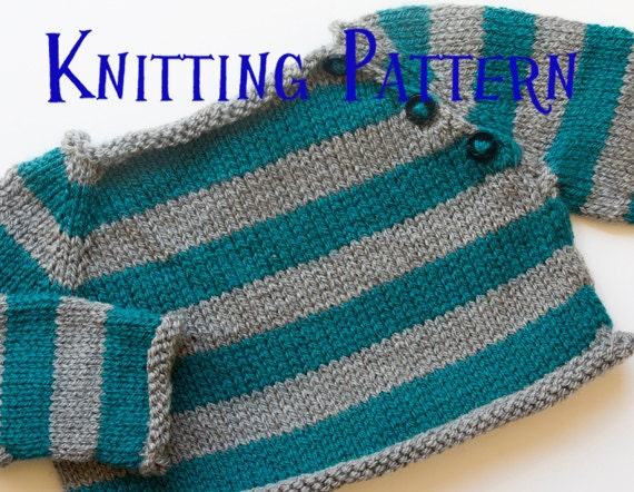 Pdf Knitting Pattern Stripes Pullover Infant Sweater Baby