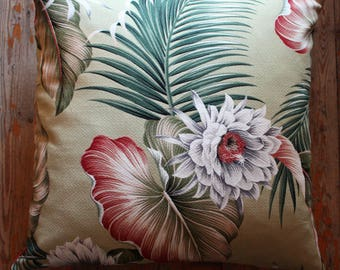 exotic tropical flower 45cm sq cushion cover