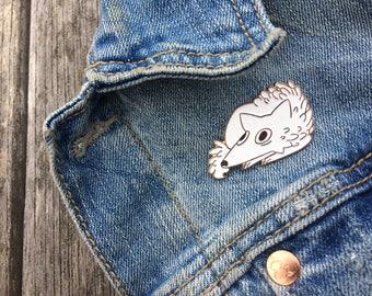 Scaredy Wolf Enamel Pin