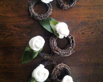 Floral Vine Napkin Rings