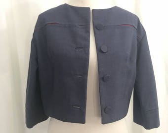 Vintage 60s Vogue Special Design Cropped Jackie O style Suit Jacket M