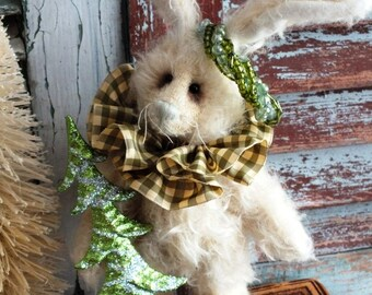 Handmade Collectible Mohair Bunny by avintageobsession on etsy