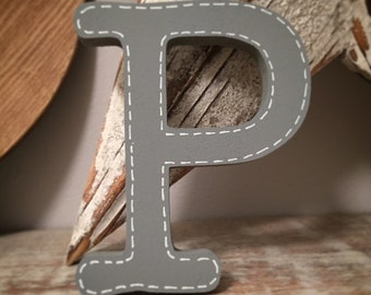 Wooden Wall Letter - P, Typewriter Font - Various sizes, finishes and colours - 30cm, 9mm thick