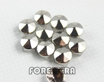 400Pcs 10mm Silver hexagon CONE Studs Metal Studs (SHC10)