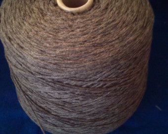 1 spool 1 kg cashmere yarn grey 2,6 number metric knitting on a cone