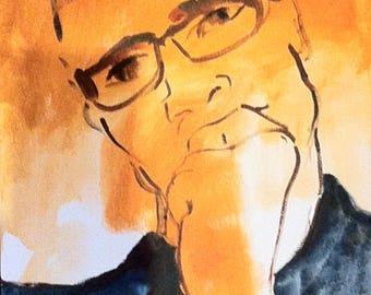 Portrait of a man reflecting