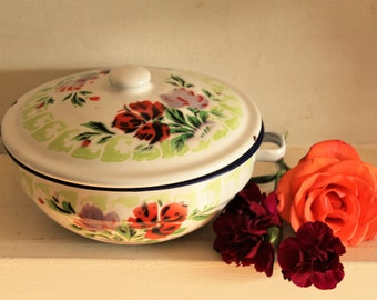 Vintage Enamel Casserole Dish