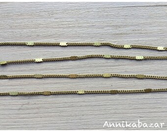 5 m brass chain for necklaces, bracelets or earrings