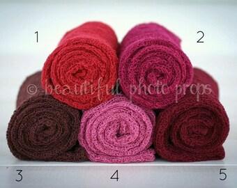 Stretch Knit Wraps in Jewel Tones