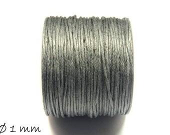 Designed, cotton string, grey, Ø 1 mm