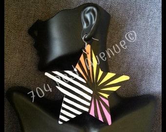 Colorful Stars & Stripes Earrings